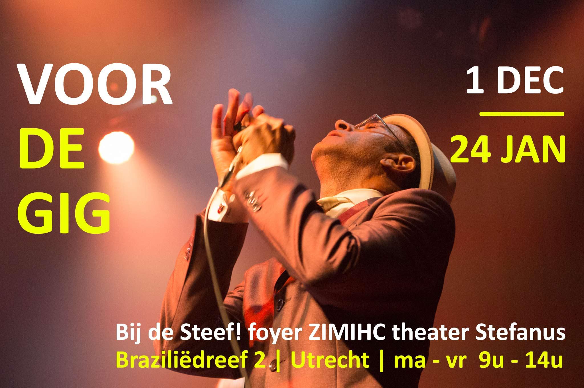 foto-expositie 'Voor de gig' ZIMIHC theater Stefaus Utrecht