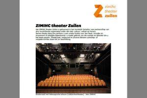 folder promotie zaalverhuur ZIMIHC theater Zuilen